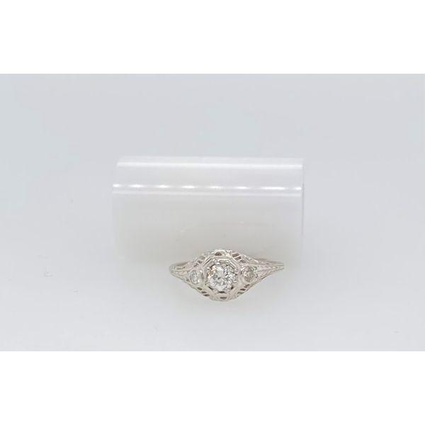 White Gold 3-Stone Ring Mystique Jewelers Alexandria, VA
