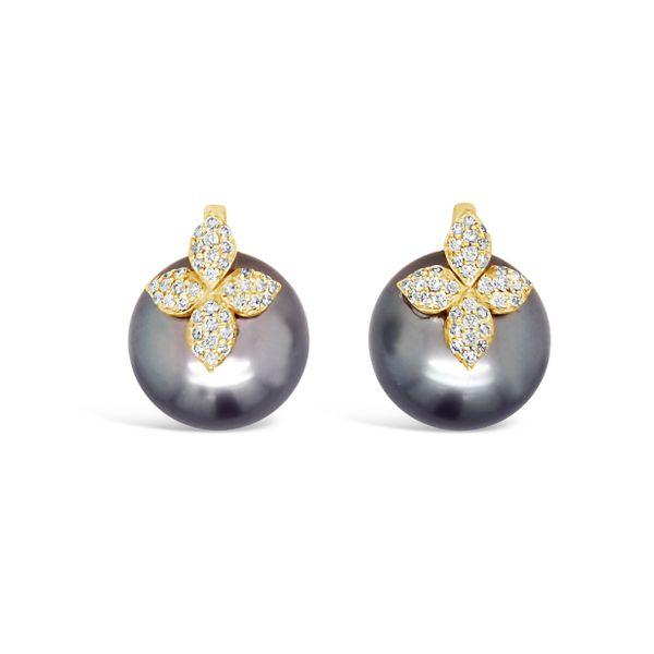 Tahitian pearl earrings  Mystique Jewelers Alexandria, VA