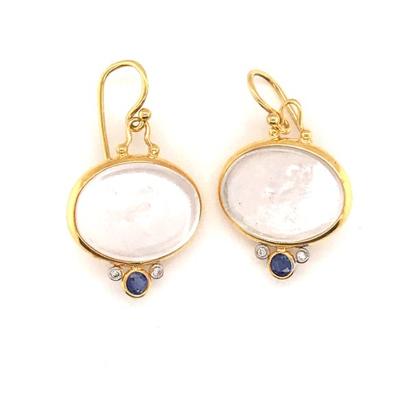 Venetian Glass Diamond Sapphire Earrings Mystique Jewelers Alexandria, VA