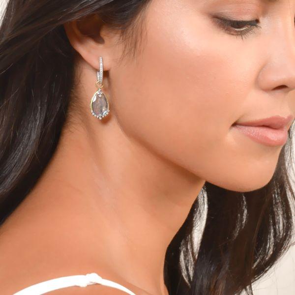 Delicate Small Oval Hoop Earrings Image 3 Mystique Jewelers Alexandria, VA