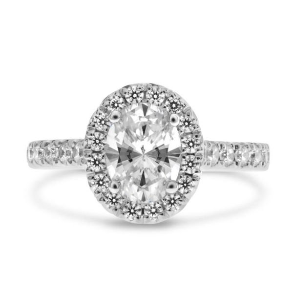 Diamond Oval Halo Engagement Ring Mystique Jewelers Alexandria, VA