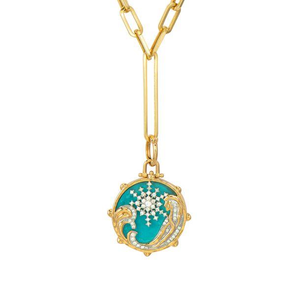Sea Goddess Turquoise Tablet Pendant Mystique Jewelers Alexandria, VA