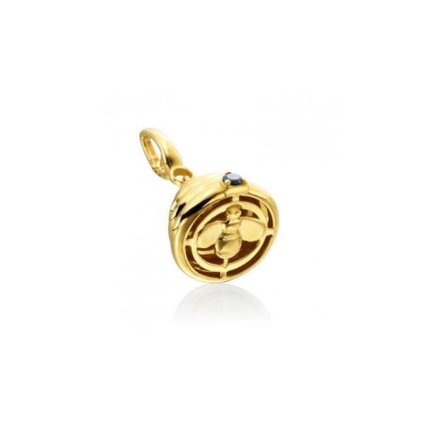 "GUMUCHIAN HONEYBEE ""B"" 18K YELLOW GOLD CHARM  Image 2 Mystique Jewelers Alexandria, VA"