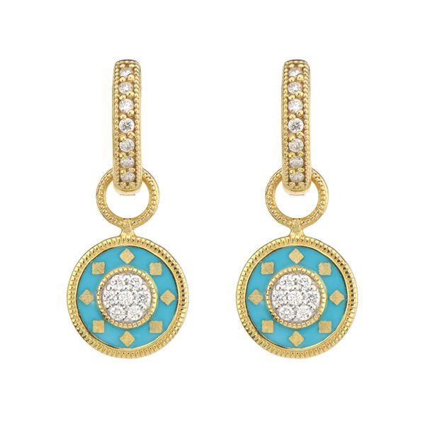 Lisse Small Disc Ceramic Pave Earring Charms Mystique Jewelers Alexandria, VA