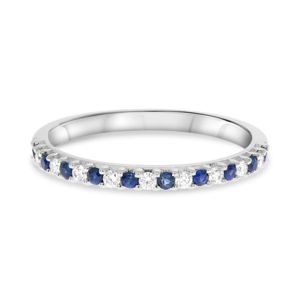 Sapphire & Diamond Band Mystique Jewelers Alexandria, VA