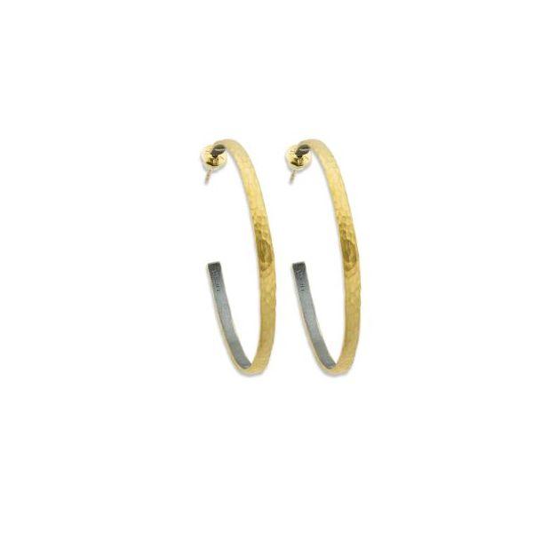22kt 40mm Oxided Sterling Hoops Mystique Jewelers Alexandria, VA