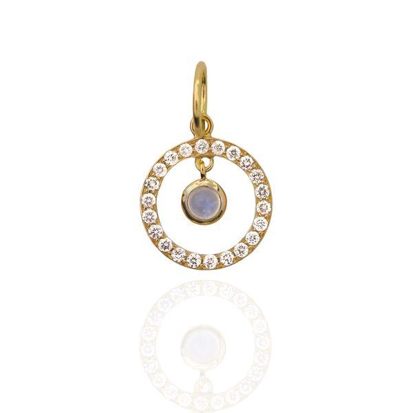 Petit Halo Pendant in Yellow Gold Mystique Jewelers Alexandria, VA