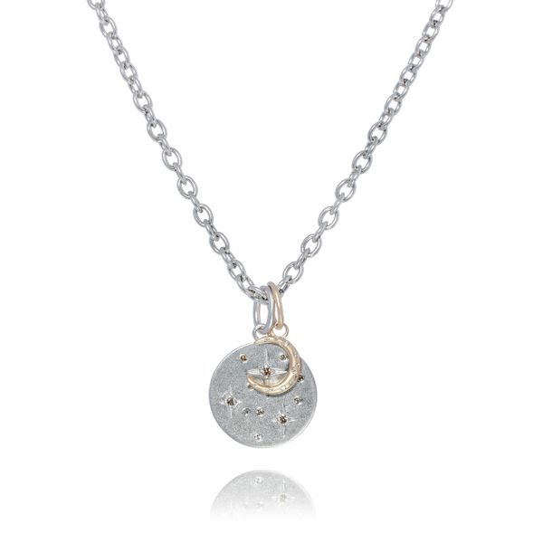 Equinox Necklace with Diamond Accents Mystique Jewelers Alexandria, VA