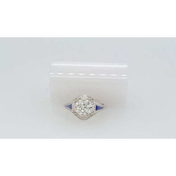 Diamond and Sapphire Engagement Ring Mystique Jewelers Alexandria, VA