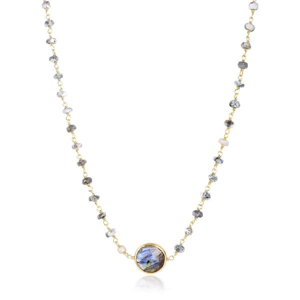 Dentrite Opal and Labradorite Necklace Image 2 Mystique Jewelers Alexandria, VA