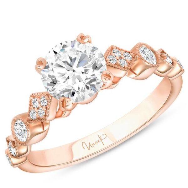 Round Diamond Engagement Ring, in 14K Rose Gold Mystique Jewelers Alexandria, VA