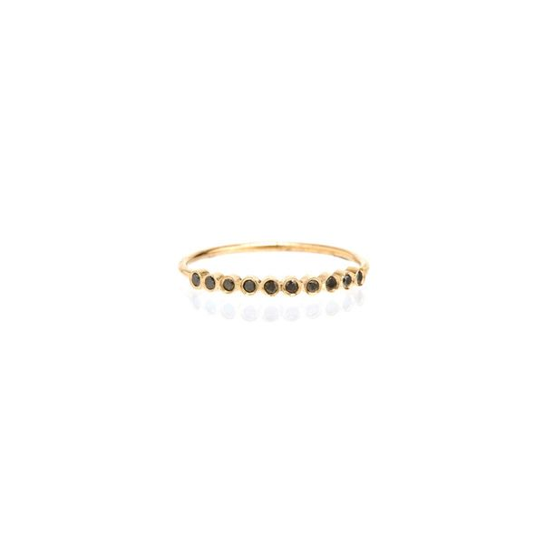 14K 10 Tiny Bezel Set Black Diamond Ring Mystique Jewelers Alexandria, VA