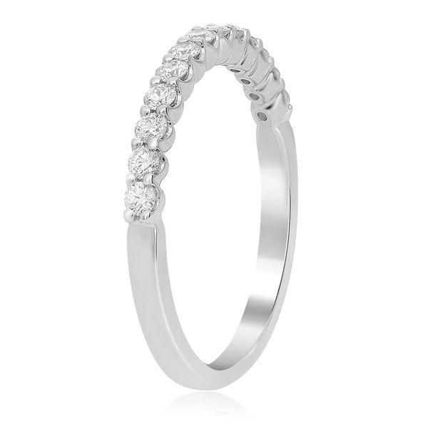 White Gold Shared Prong Diamond Band  Image 3 Mystique Jewelers Alexandria, VA