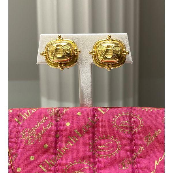 Elizabeth Locke Bee intaglio Earrings Mystique Jewelers Alexandria, VA