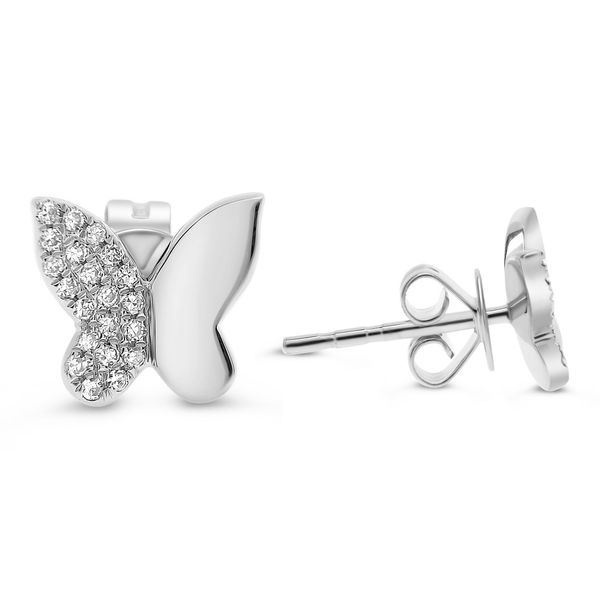 Diamond Butterfly Stud Earrings Mystique Jewelers Alexandria, VA