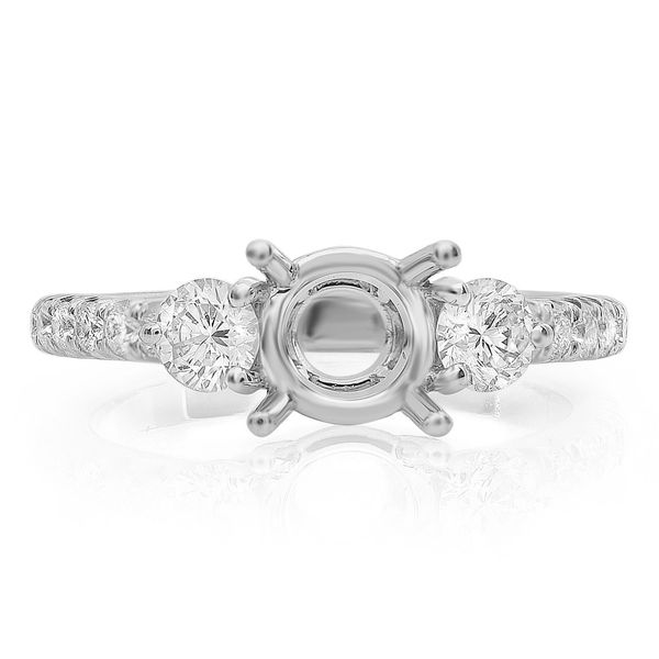 Diamond Side Stone Engagement Setting Mystique Jewelers Alexandria, VA