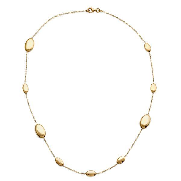 Pebble Station Necklace 14K  Mystique Jewelers Alexandria, VA