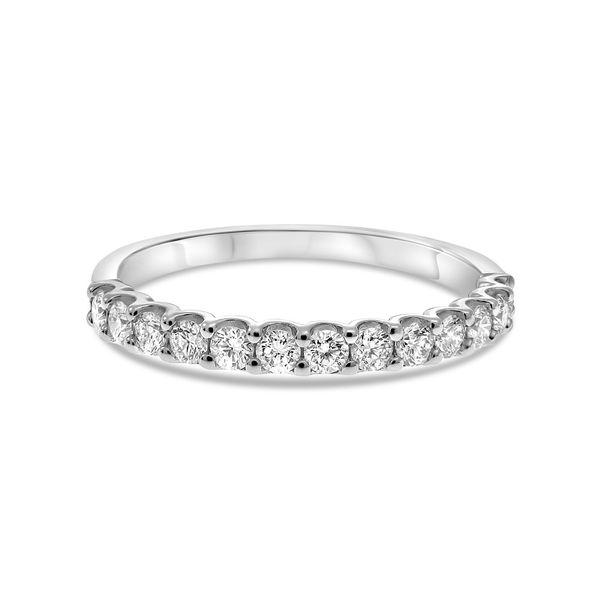 White Gold Halfway Diamond Band  Mystique Jewelers Alexandria, VA