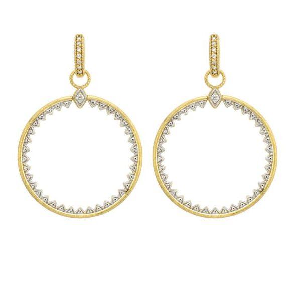Lisse Open Circle Half Kite Earring Charms Mystique Jewelers Alexandria, VA