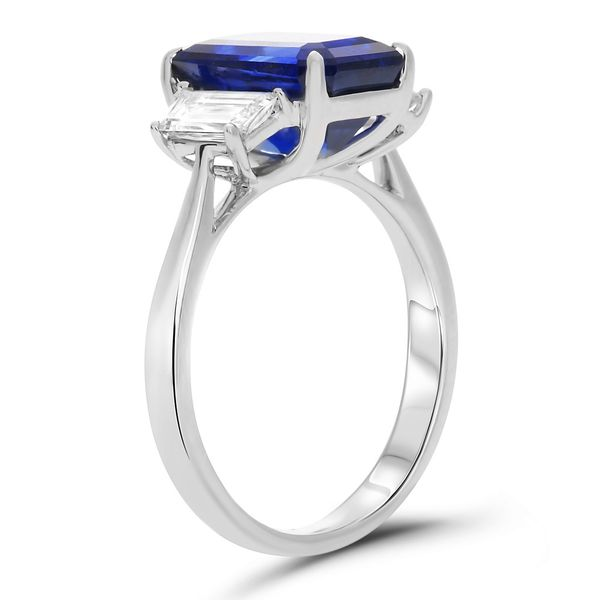 Platinum Sapphire & Diamond Statement Ring Image 2 Mystique Jewelers Alexandria, VA