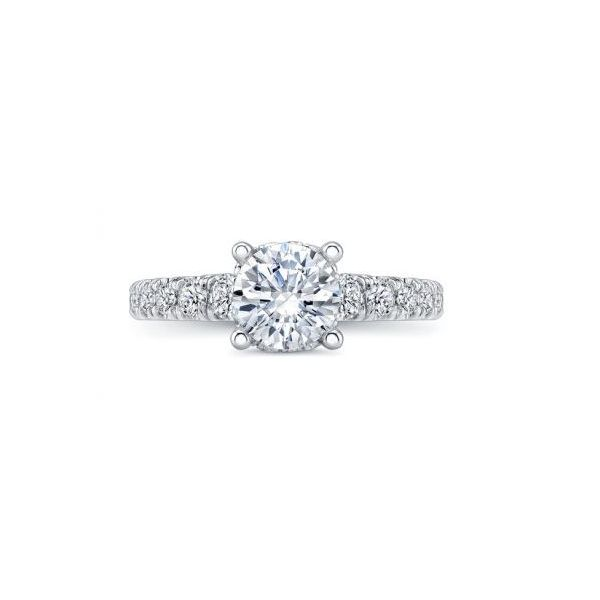Low Halo Diamond Engagement Ring Image 2 Mystique Jewelers Alexandria, VA