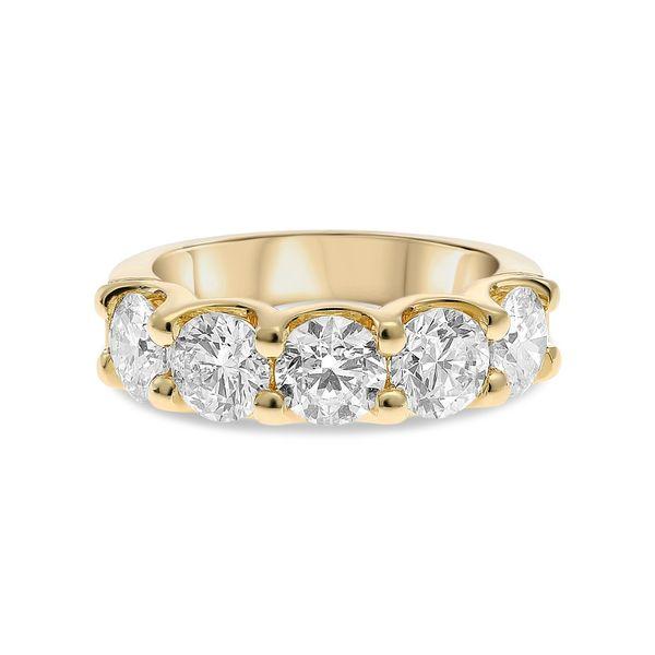 Five Diamond Ring in Yellow Gold Mystique Jewelers Alexandria, VA