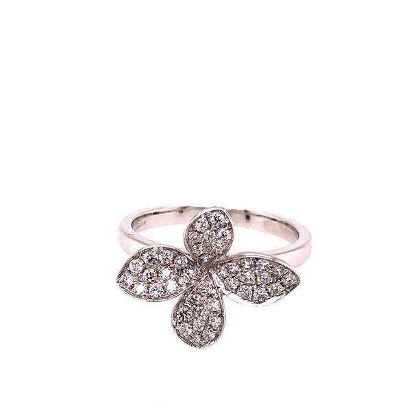 18K DIAMOND FLOWER RING Mystique Jewelers Alexandria, VA