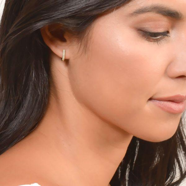 Diamond Huggie Hoop Earrings  Mystique Jewelers Alexandria, VA