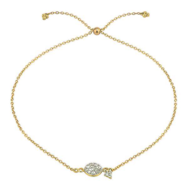 Petite Pave Circle Chain Bracelet Mystique Jewelers Alexandria, VA