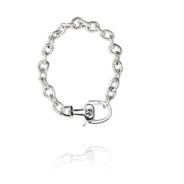 Equestrian Stirrup Lock Sterling Silver Bracelet Mystique Jewelers Alexandria, VA