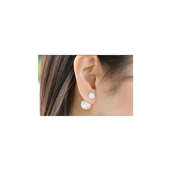 Pearl 18K 11-12mm 13-14mm Dior earrings Image 3 Mystique Jewelers Alexandria, VA