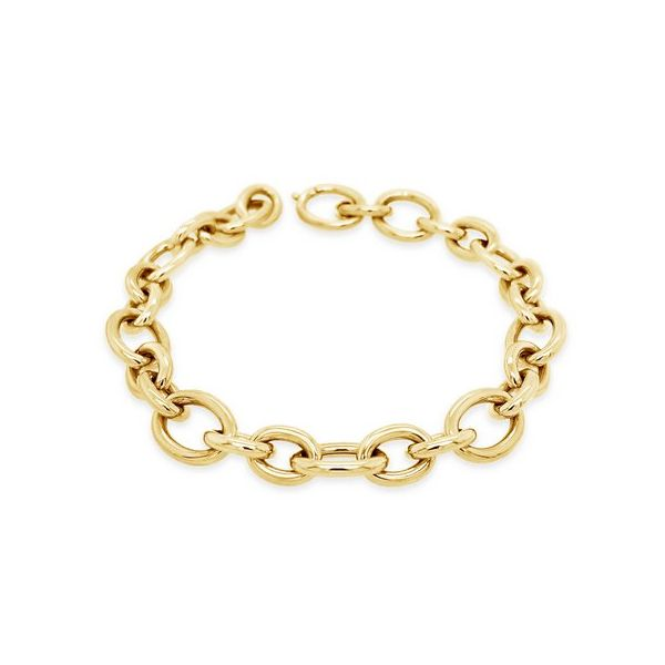 18K Link Bracelet  Mystique Jewelers Alexandria, VA