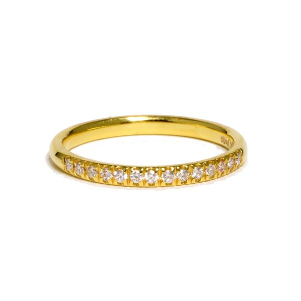 14kt Yellow Gold Diamond Band Mystique Jewelers Alexandria, VA