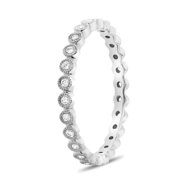 Diamond Milgrain Eternity Band  Image 2 Mystique Jewelers Alexandria, VA