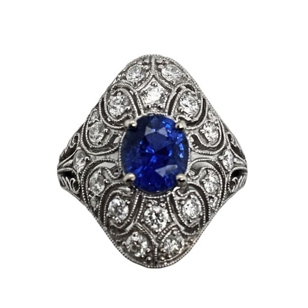 Estate Sapphire & Diamond Ring Mystique Jewelers Alexandria, VA