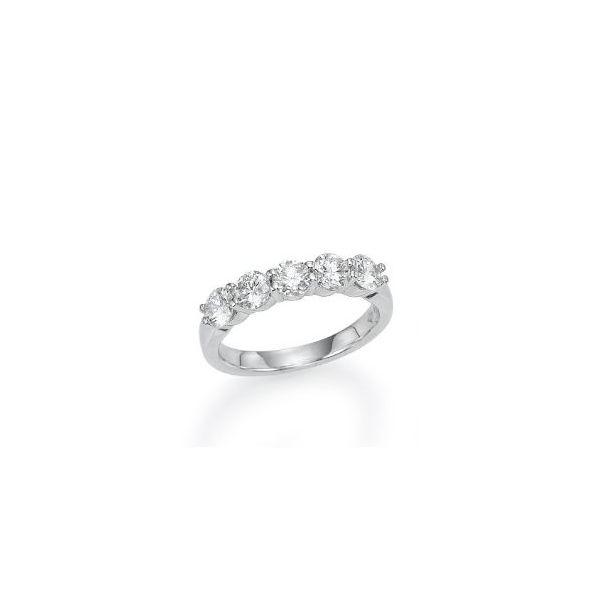 Five Stone Share Prong Wedding Band Mystique Jewelers Alexandria, VA