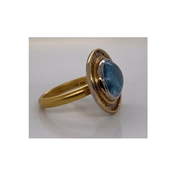Aquamarine and Diamond Ring Image 2 Mystique Jewelers Alexandria, VA