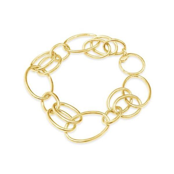 14K Yellow Gold Link bracelet Mystique Jewelers Alexandria, VA