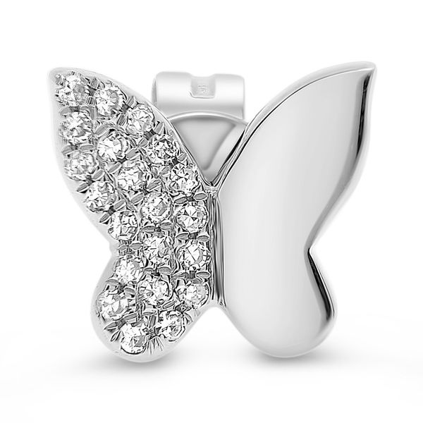 Diamond Butterfly Stud Earrings Image 2 Mystique Jewelers Alexandria, VA
