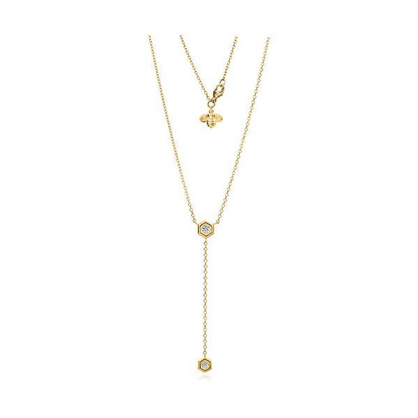 Diamond Mini B Y Necklace Image 2 Mystique Jewelers Alexandria, VA