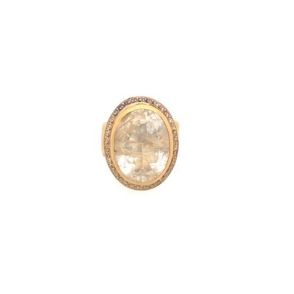 Oval Bezel Rutilated Quartz Ring Image 2 Mystique Jewelers Alexandria, VA