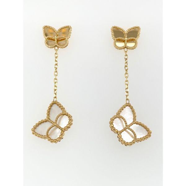 Butterfly Dangle Earrings Mystique Jewelers Alexandria, VA