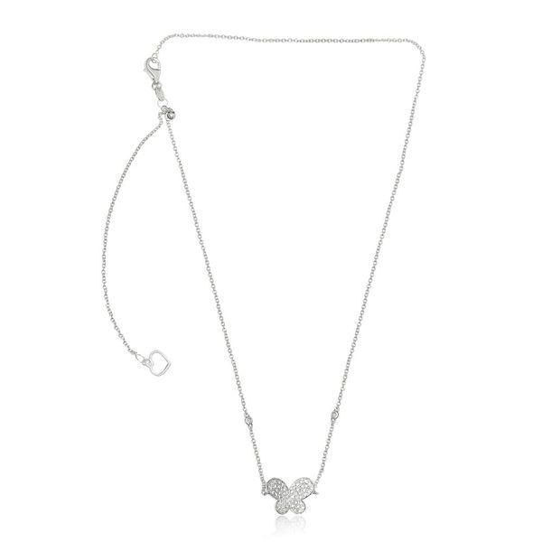 White Diamond Butterfly Necklace Image 2 Mystique Jewelers Alexandria, VA