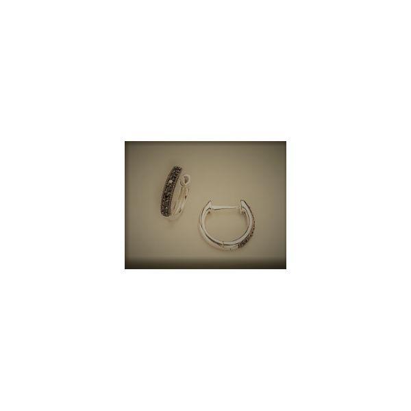 18K Yellow Gold Black Diamond Hoops Mystique Jewelers Alexandria, VA