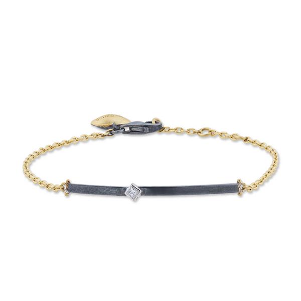 24k GOLD STERLING SILVER DIAMOND BRACELET  Mystique Jewelers Alexandria, VA