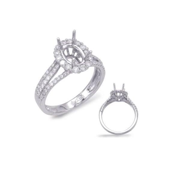 Diamond Oval Halo Engagement Ring Mystique Jewelers Alexandria, VA