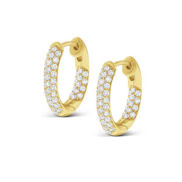 Pave Diamond Hoop earrings  Mystique Jewelers Alexandria, VA