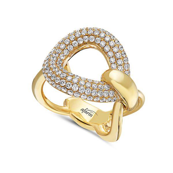 18K DIAMOND SHINY GOLD RING Mystique Jewelers Alexandria, VA