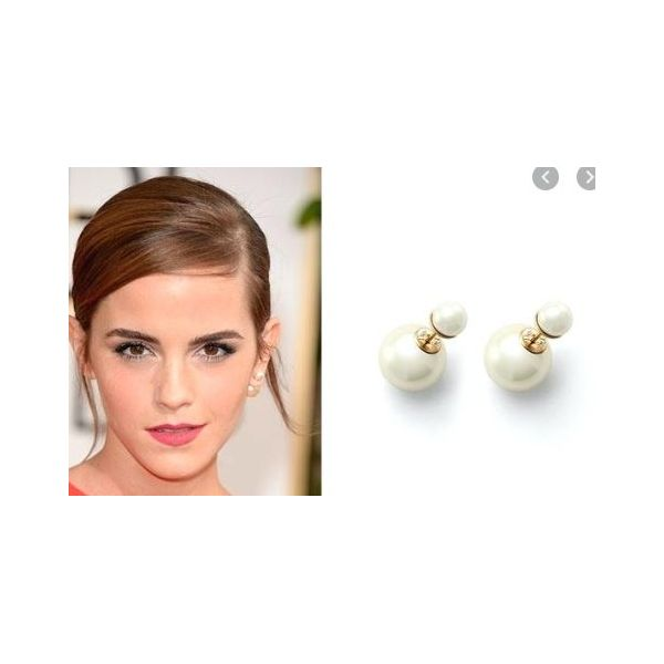 Pearl 18K 11-12mm 13-14mm Dior earrings Image 2 Mystique Jewelers Alexandria, VA