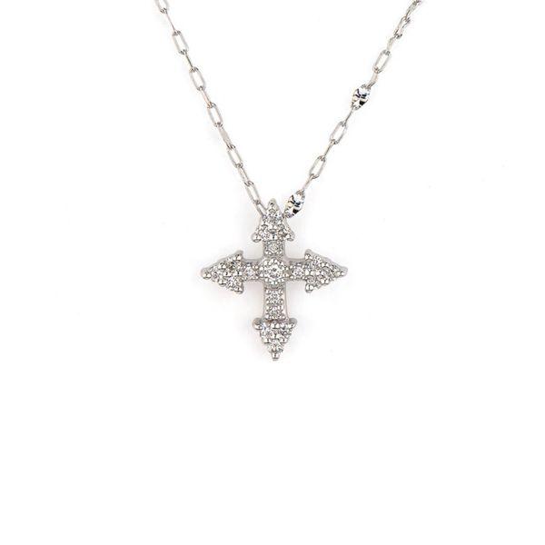 Provence Champagne Tiny Cross Pendant Mystique Jewelers Alexandria, VA